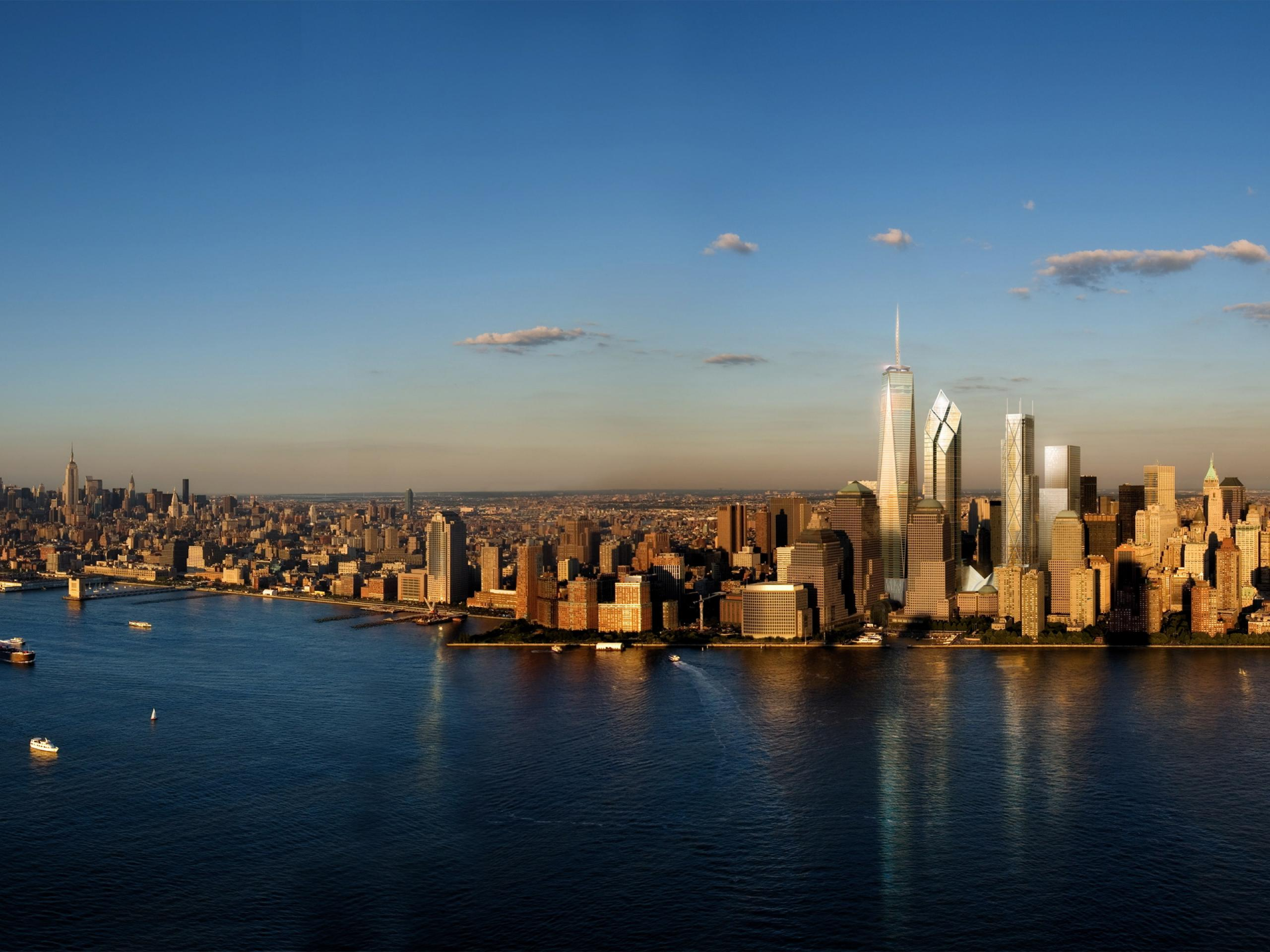New York Skyline City United Statesa Wallpapers, HQ Backgrounds