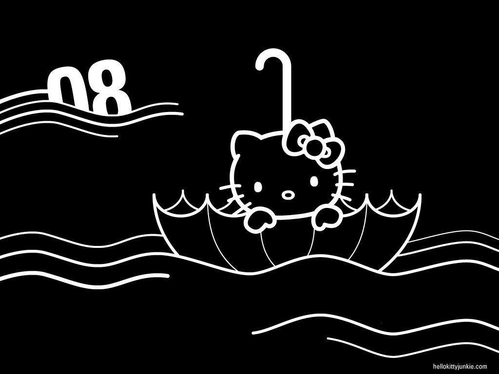 Black Hello Kitty Wallpapers - Wallpaper Cave