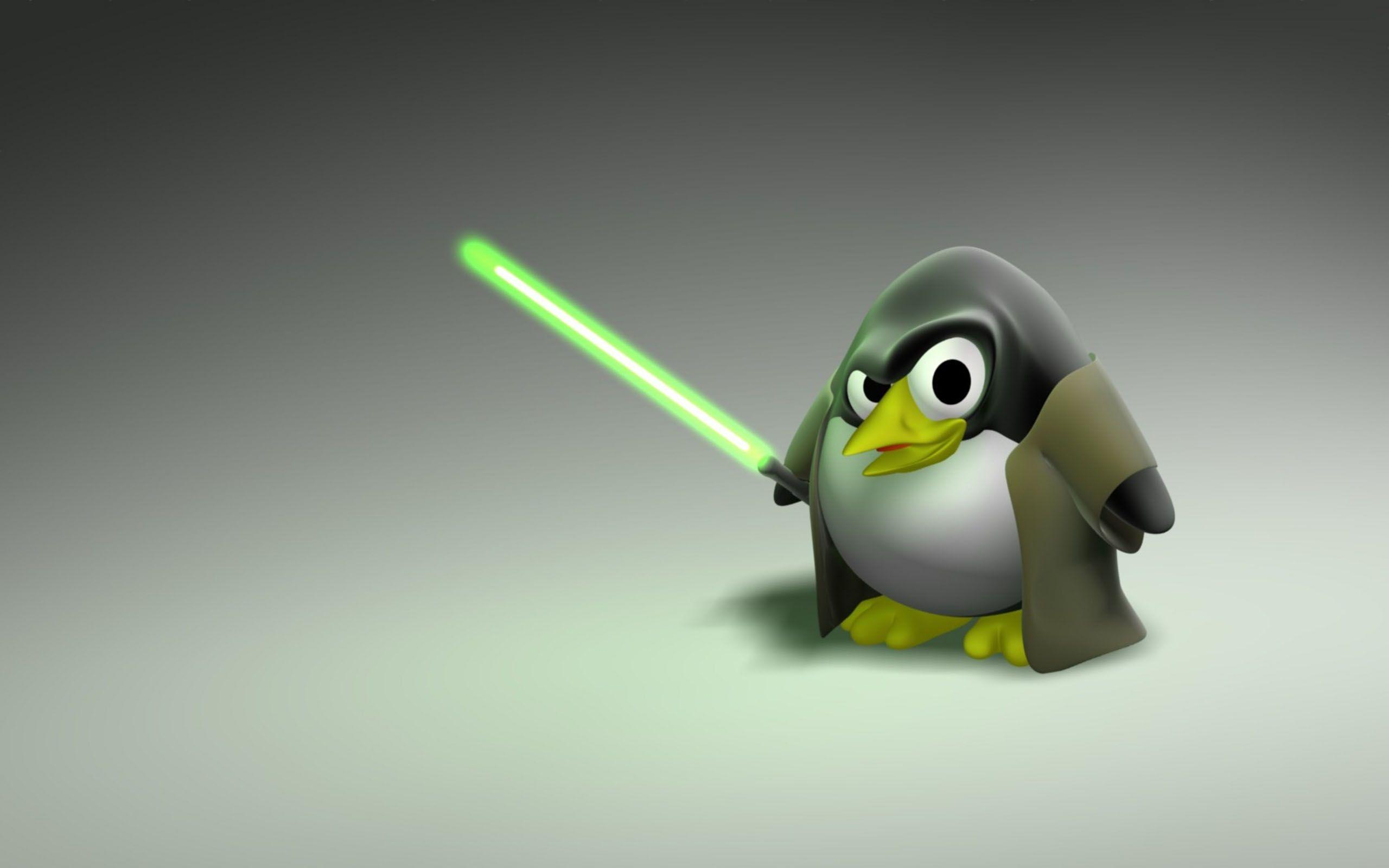 Cool Penguin Linux Wallpaper