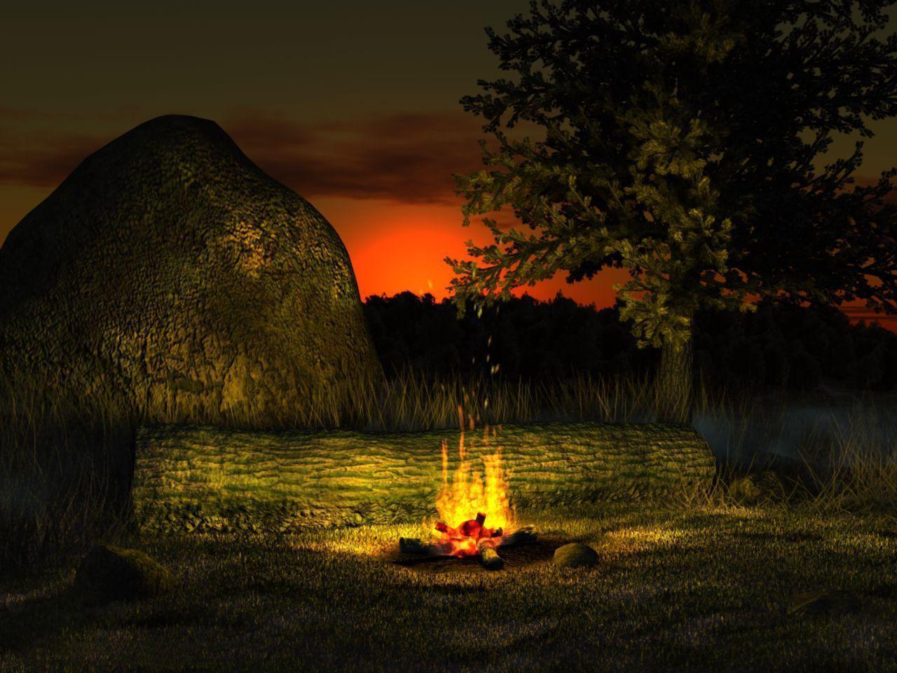 Fireplace Desktop Wallpapers - Wallpaper Cave