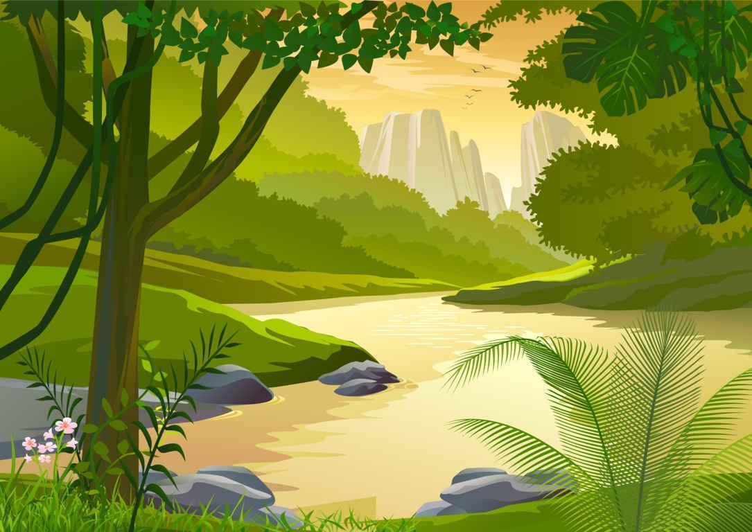 100+ Beautiful Cartoon Landscape Vector Backgrounds For Your Designs