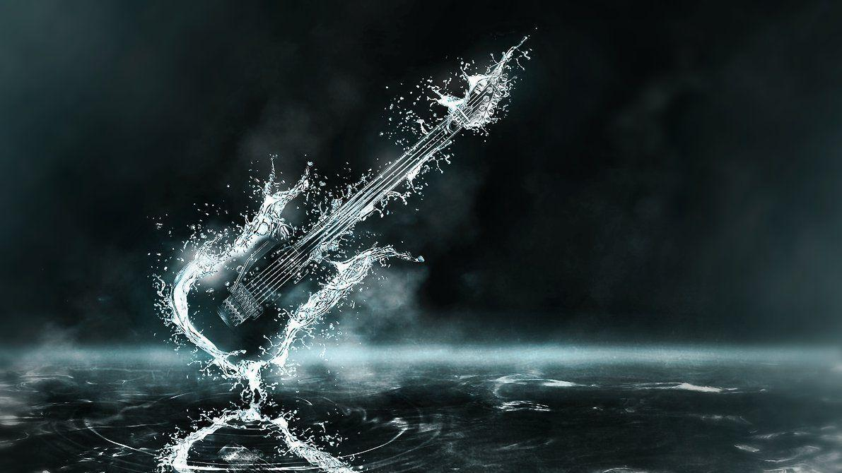 Awesome Guitar Drop Water Wallpapers HD Wallpapers