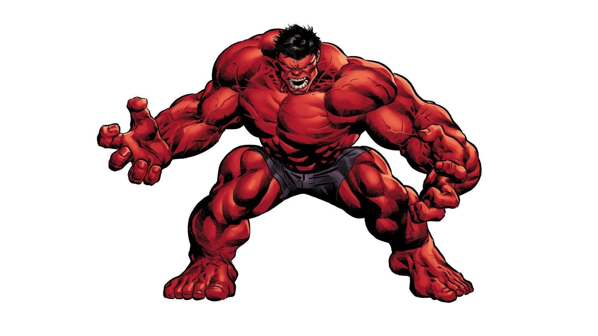 Red hulk image with white backgrounds Stock Free Image