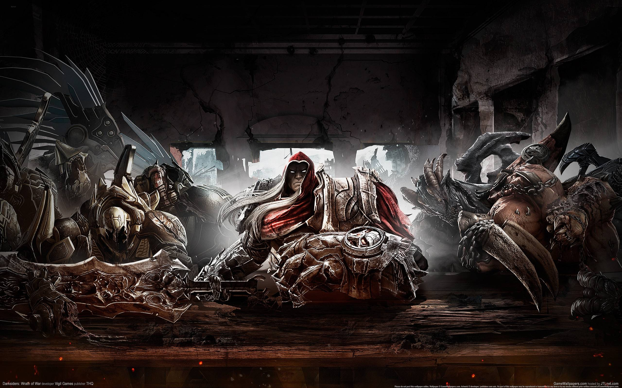 Wallpapers For > Four Horsemen Of The Apocalypse Wallpapers Darksiders