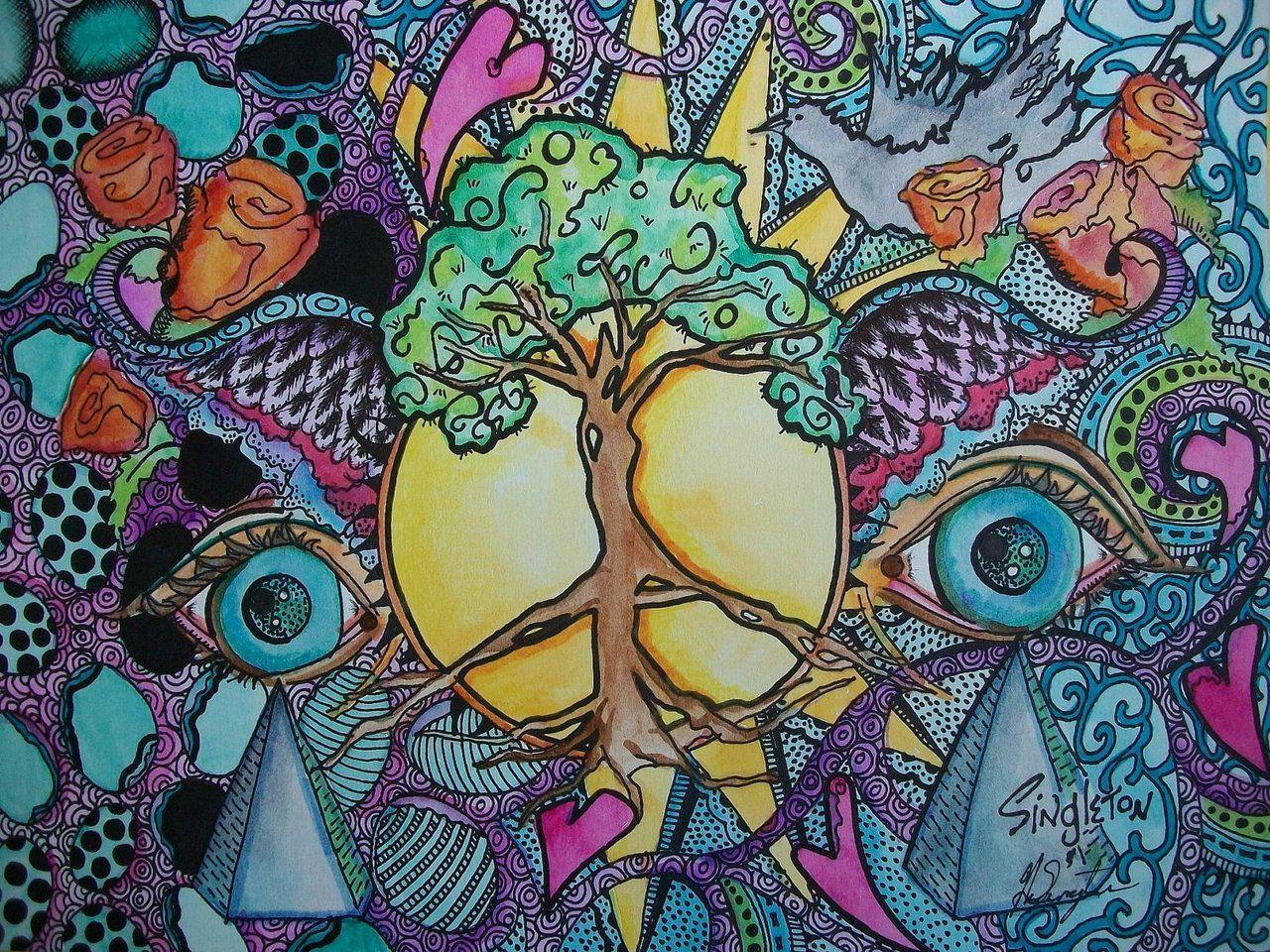 hippie backgrounds wallpaper cave