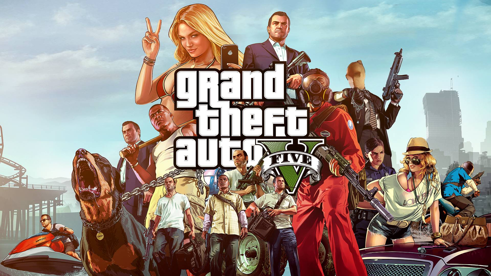 Grand Theft Auto 5 Gta V Wallpaper 40134 in Games - Telusers.com
