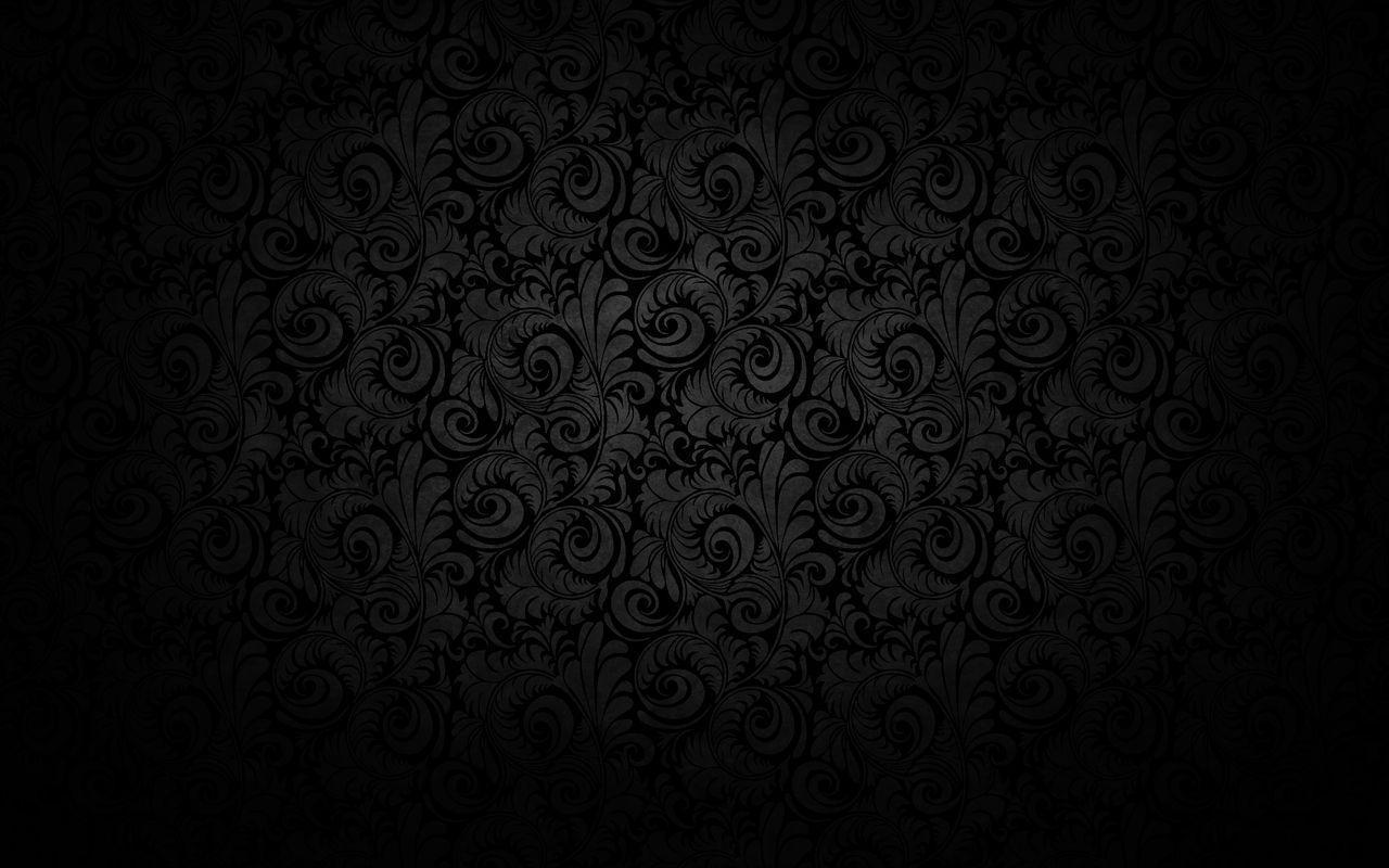 black damask wallpaper on - photo #3