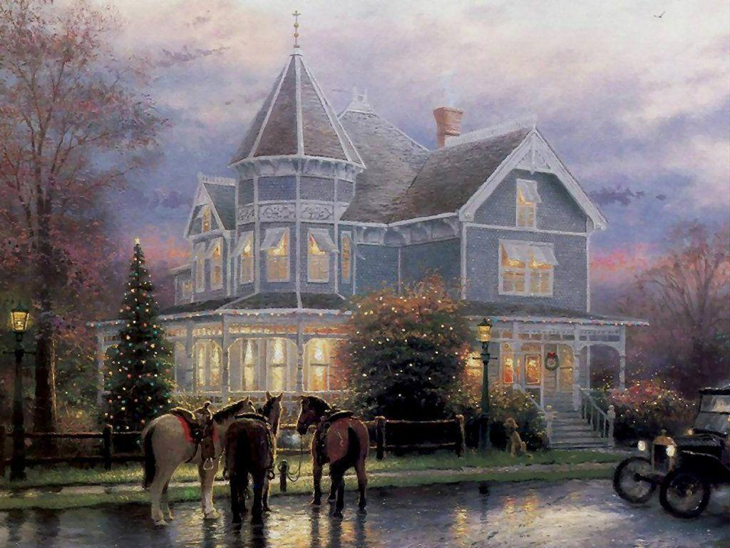 Thomas Kinkade Christmas Memories Wallpapers