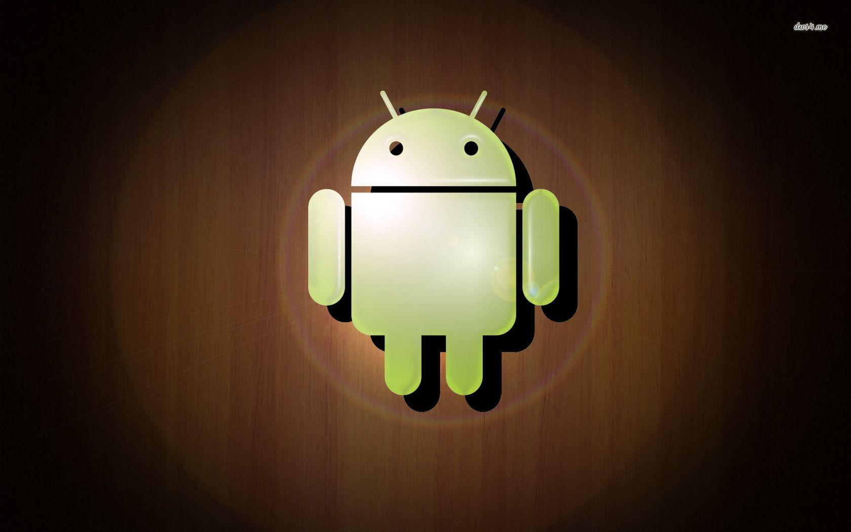 Android logo on wooden texture wallpapers