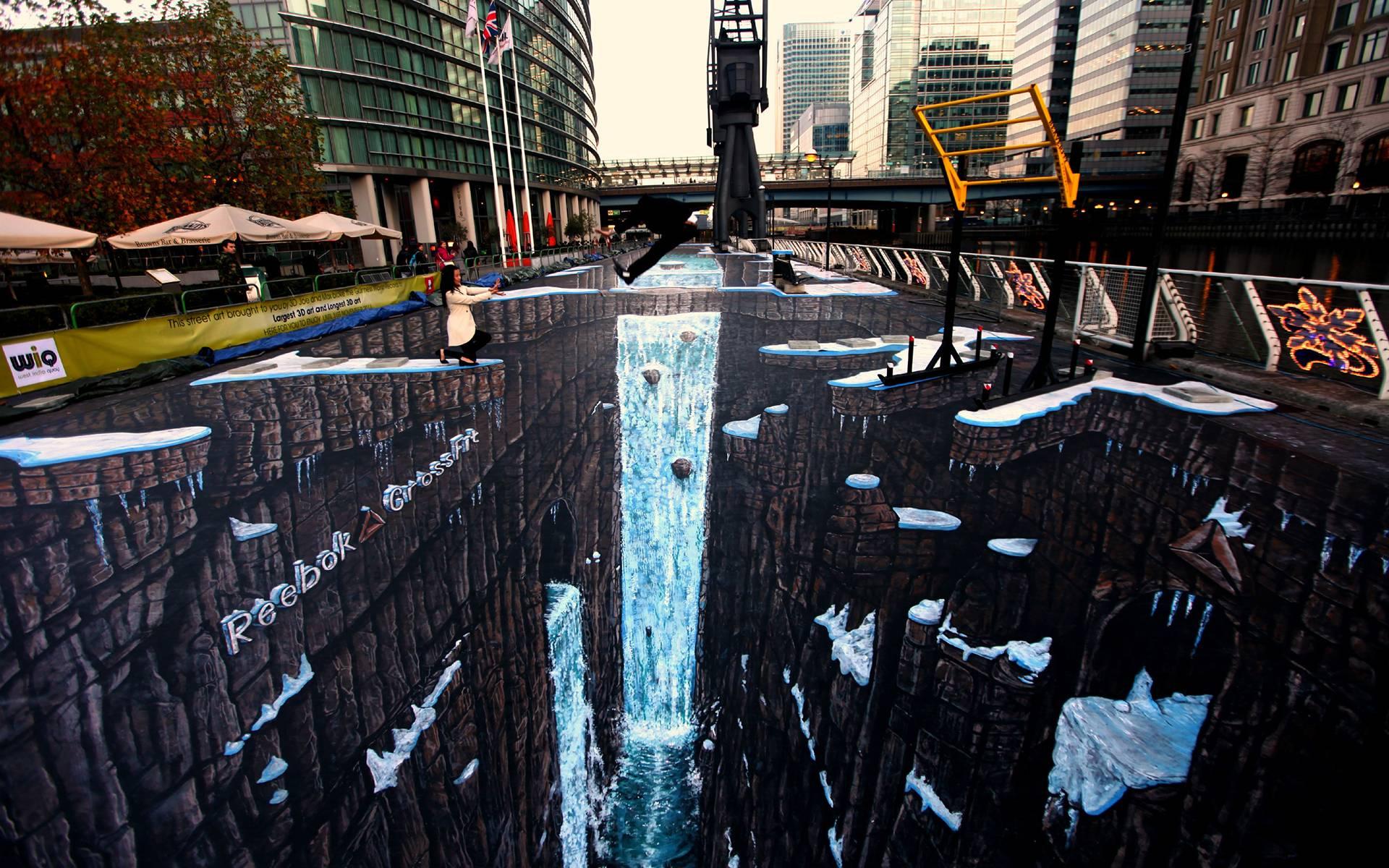Guiness World Record 3d Street Art Wallpaper