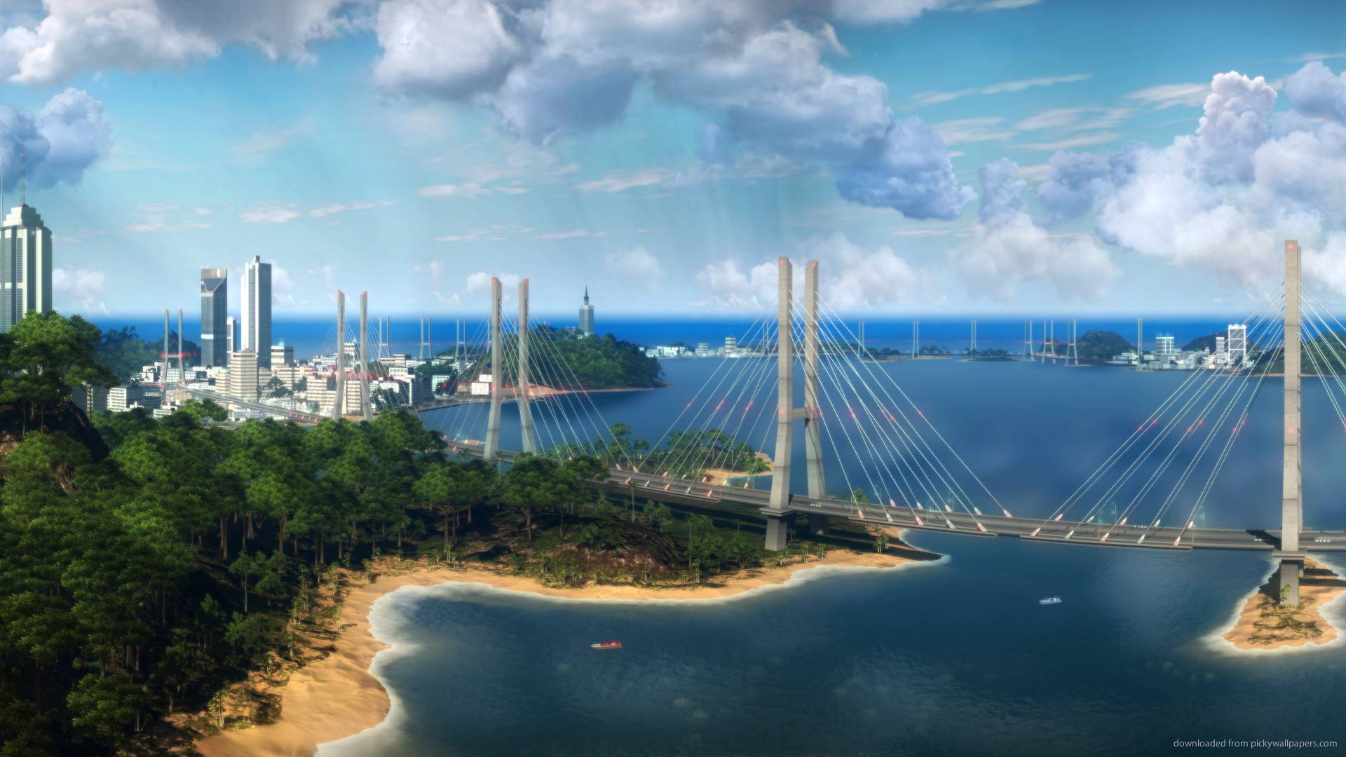 Download 1920x1080 Just Cause 2 Long Bridge Wallpapers