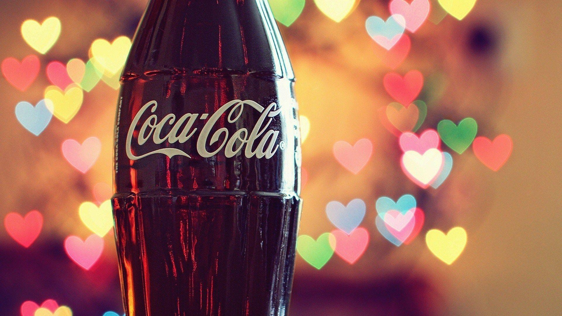 Love Coca-Cola Hearts Lights Photo HD Wallpaper Desktop ...