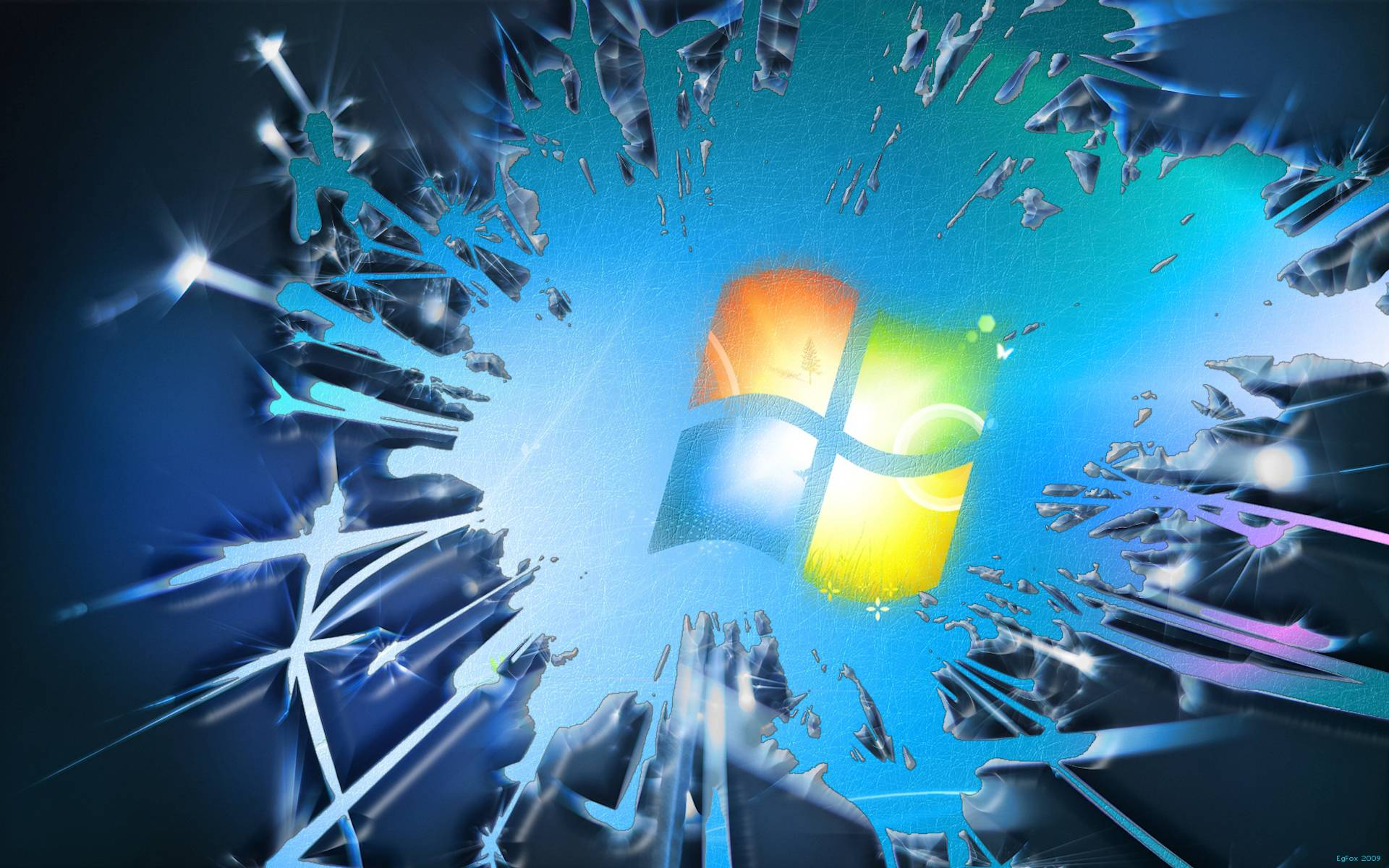 Windows 7 Broken Screen High Definition Wallpapers