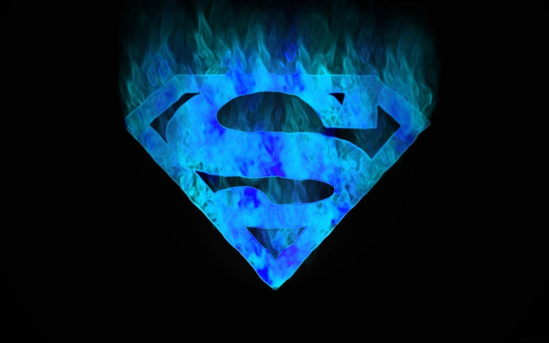 Blue Superman Symbol desktop wallpapers