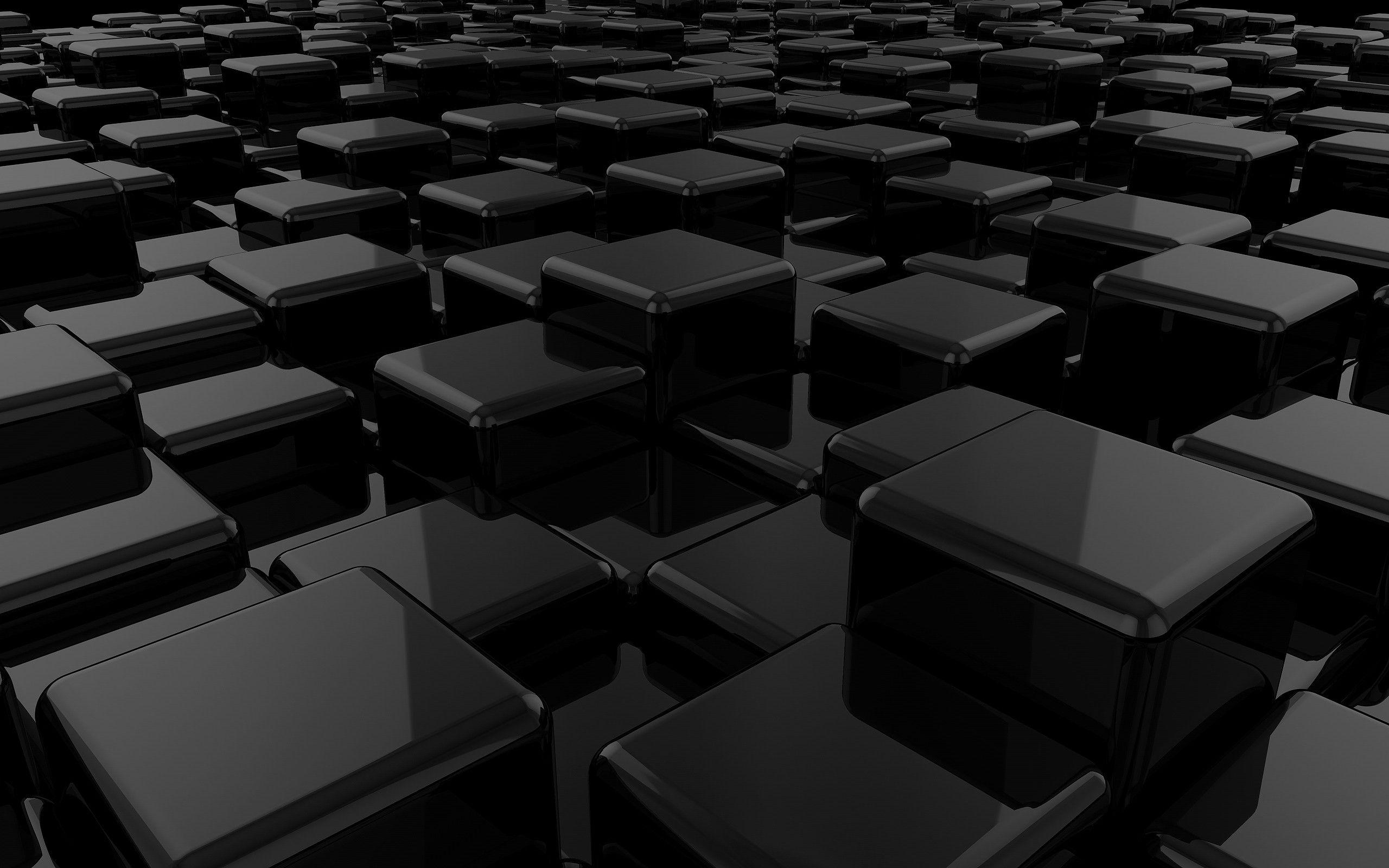 Dark Cubes Wallpapers: Black 3D Backgrounds