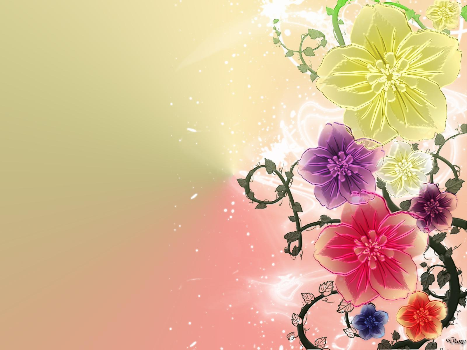 art flowers background wallpaper - photo #17