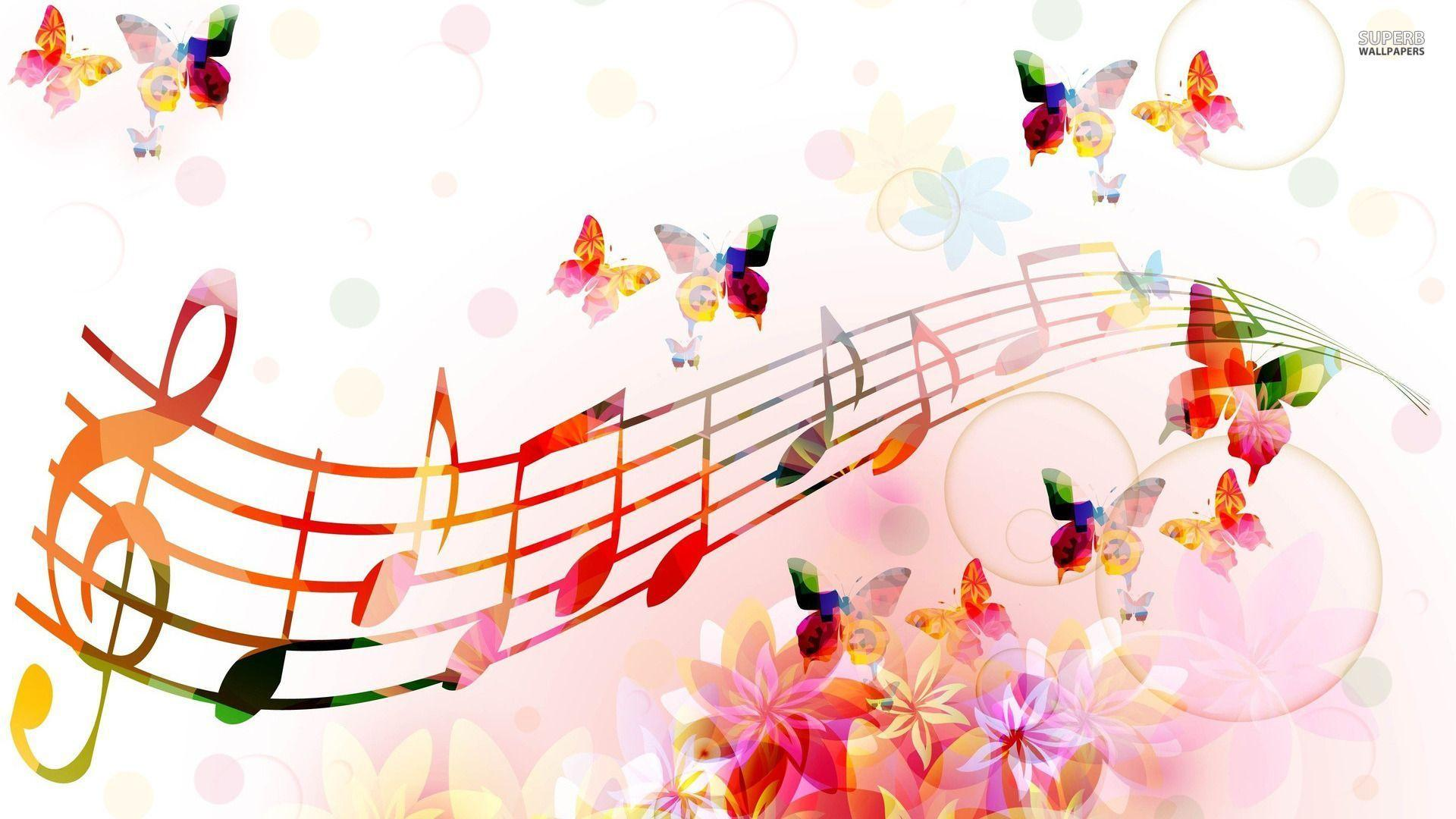 Wallpapers For > Abstract Music Notes Wallpapers