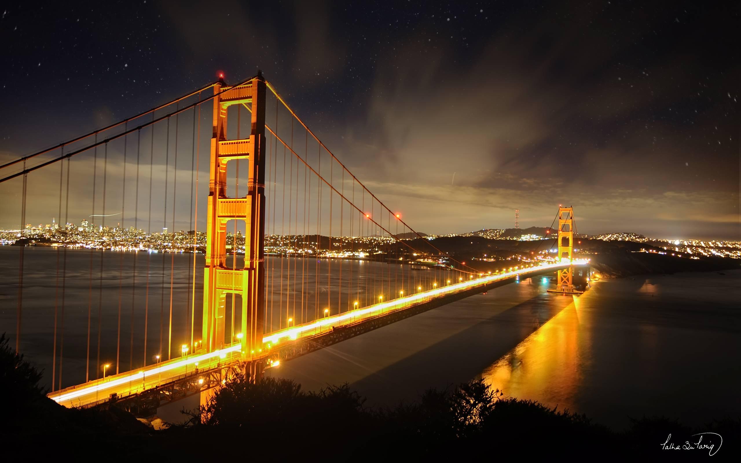 Golden Gate Bridge Night Wallpaper Full HD Mekamak