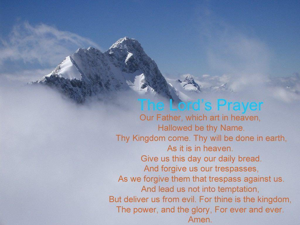 The Lord&Prayer is a great prayer