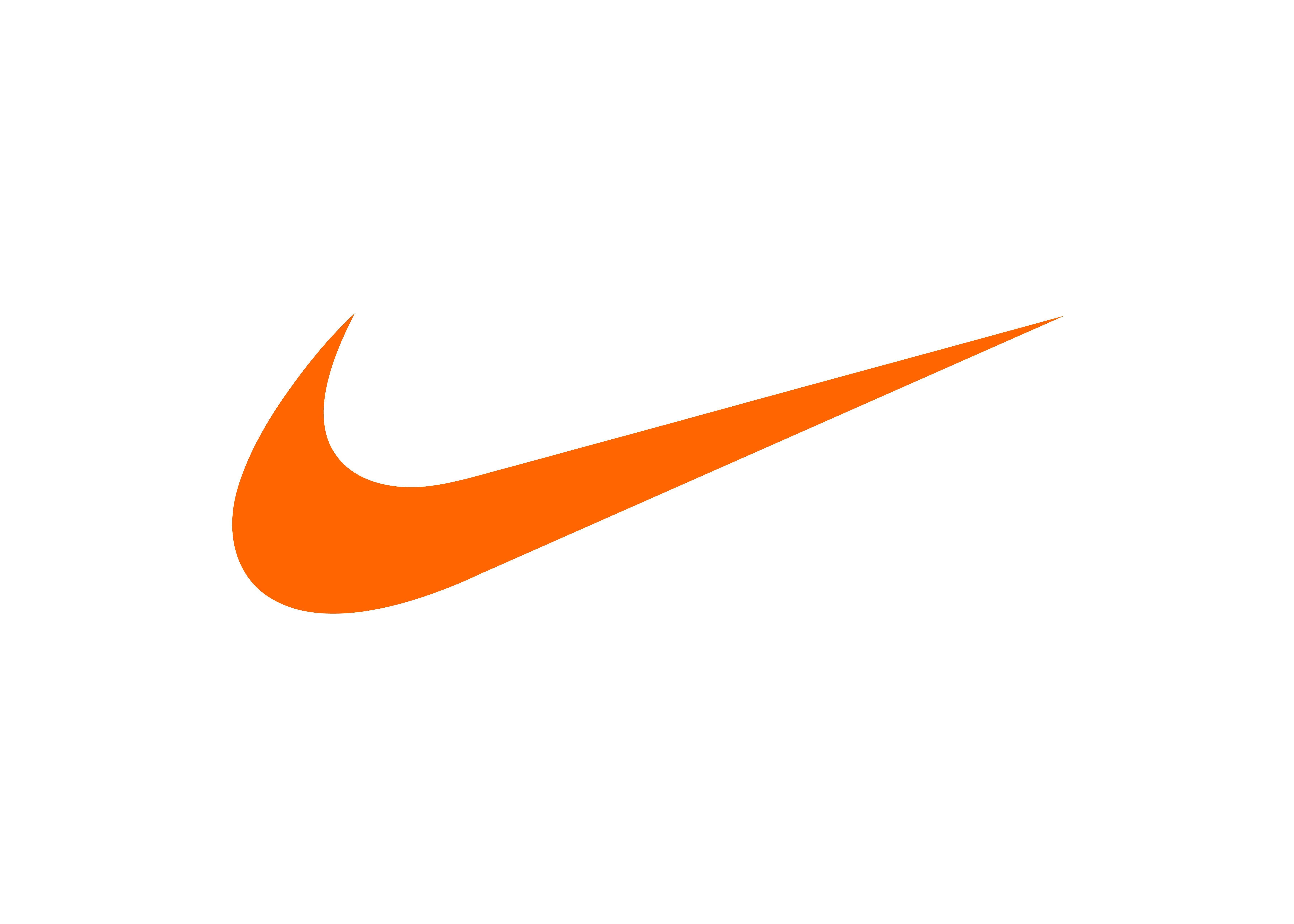 Orange Nike Logo