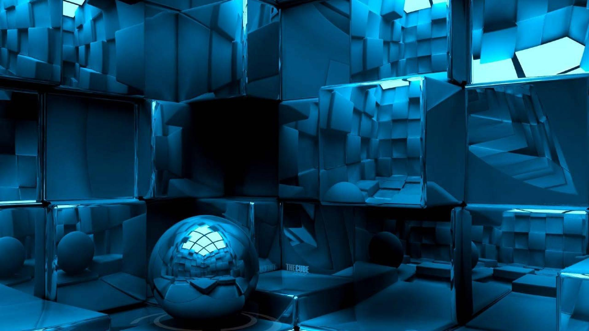 3D Cube and Sphere HD Wallpapers