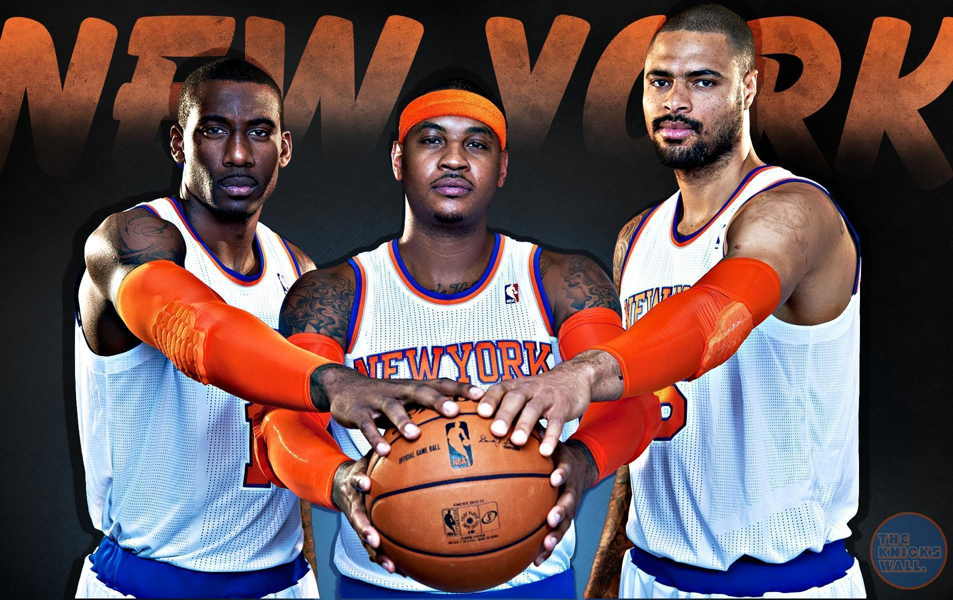 Carmelo Anthony, Amare Stoudemire and Tyson Chandler Wallpapers