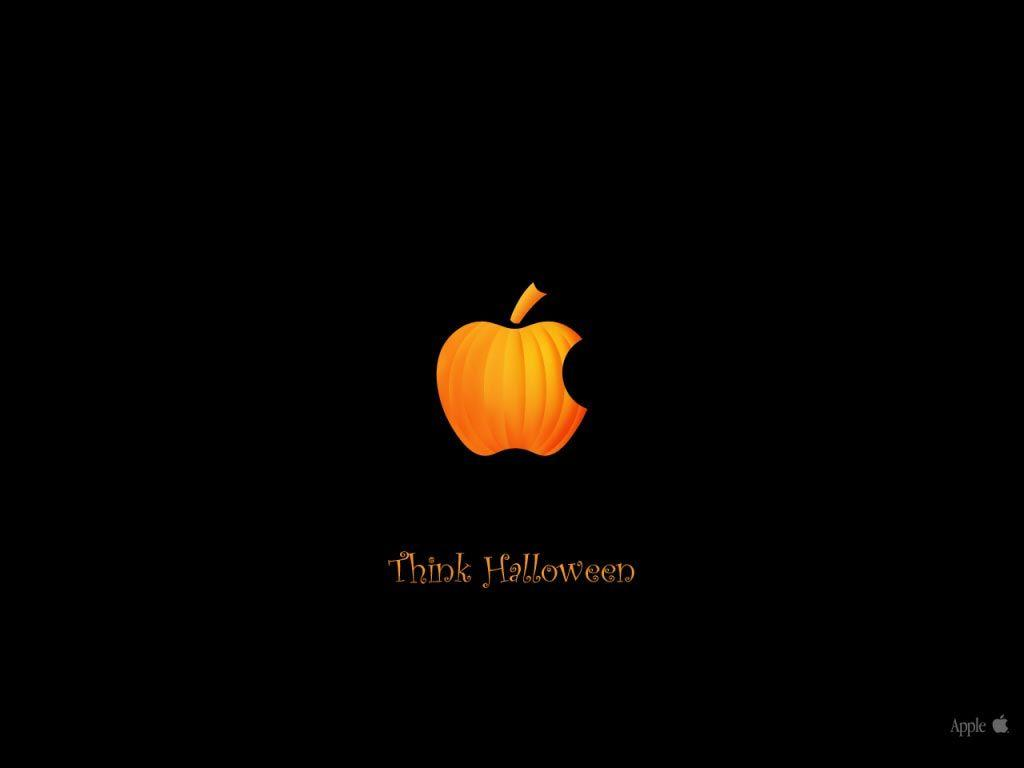 Desktop Wallpapers · Gallery · Computers · Apple Halloween pumpkin