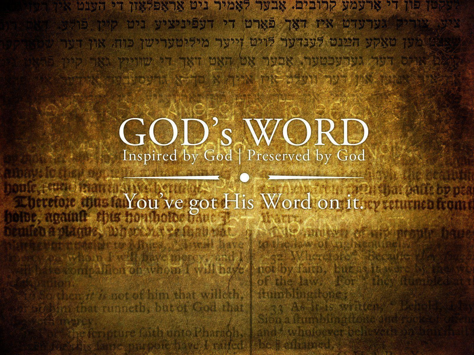 GODs Word Christian HD Wallpaper