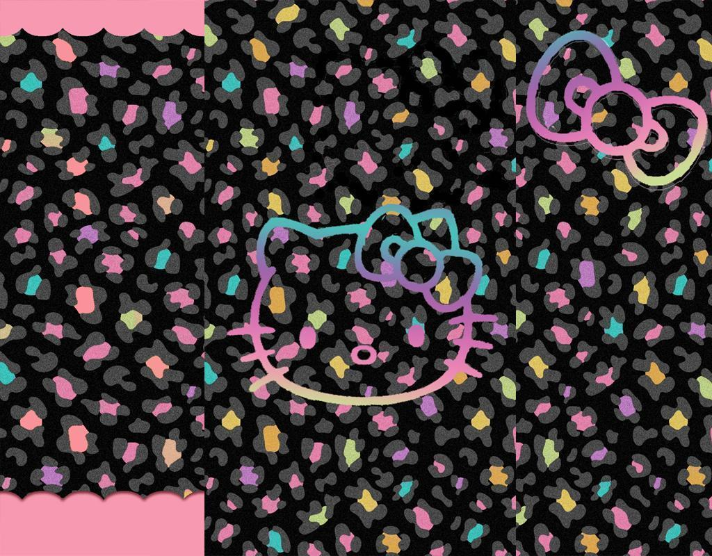 hello kitty wallpapers pink and black wallpaper cave