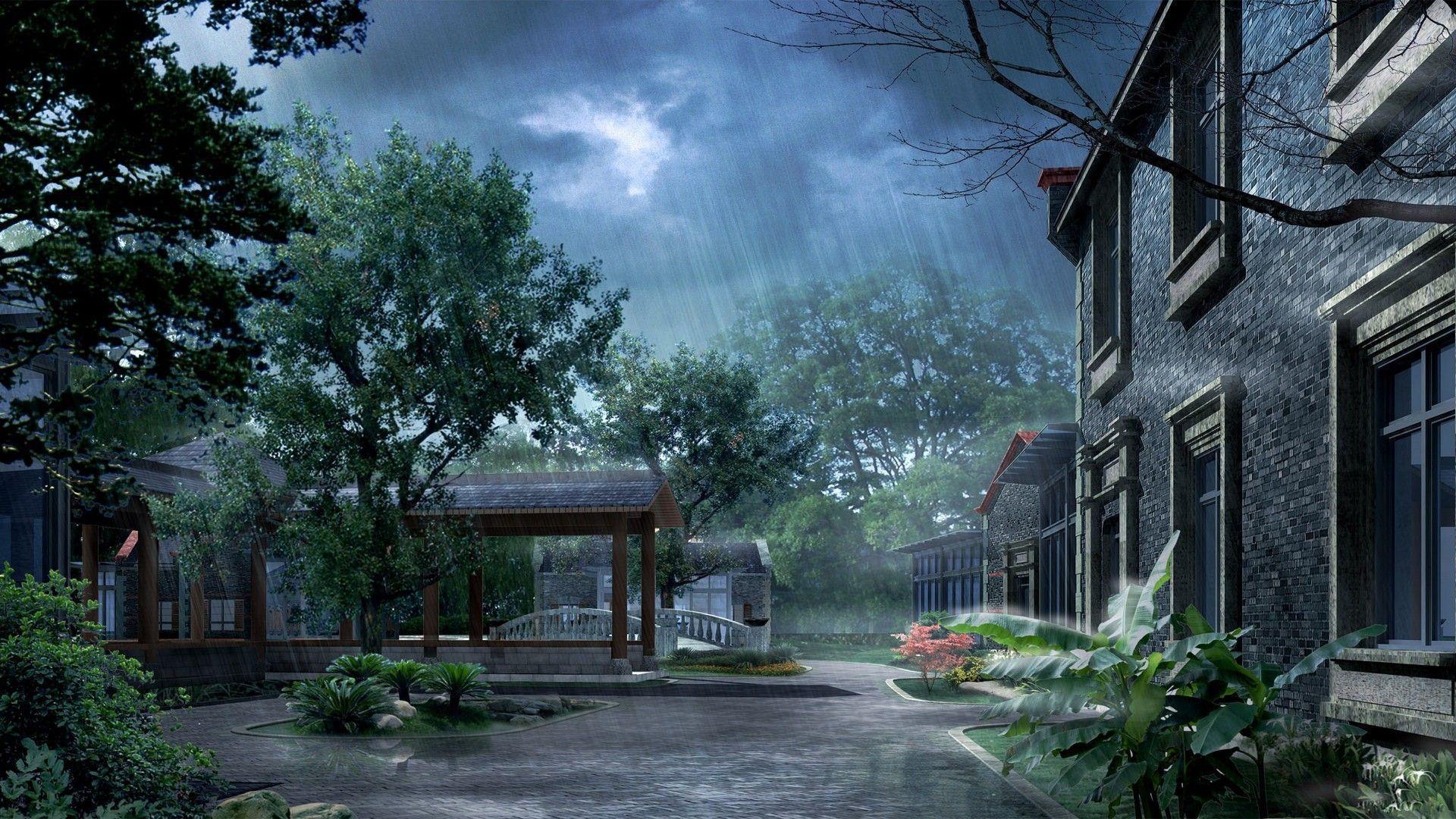 Rain Art Wallpaper (5118) | Nature Wallpaper Osteotx.