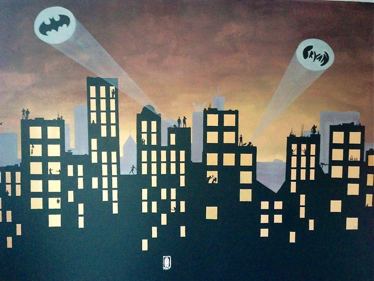 Batman / Gotham City Mural For Bryan | Inside Ellieu0027s Head Part 79