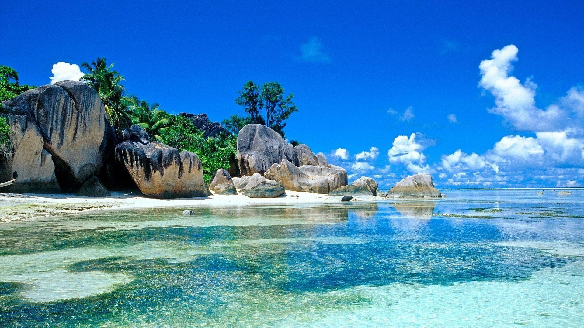 Captivating Beach Paradise Wallpapers Hd Background 9 HD Wallpapers | Aladdino.