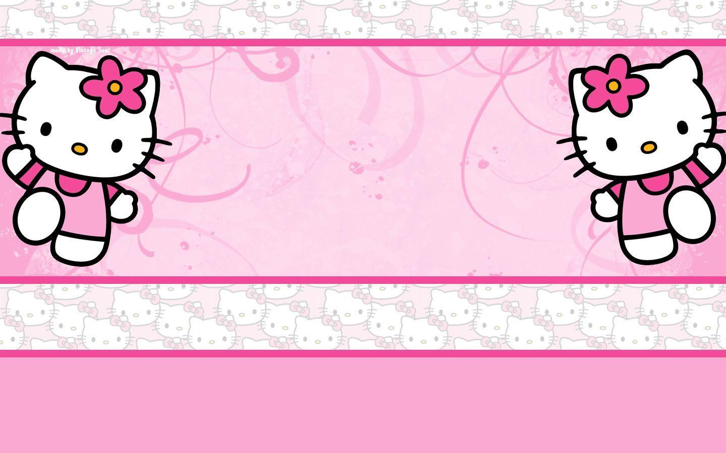 hello kitty pink backgrounds wallpaper cave