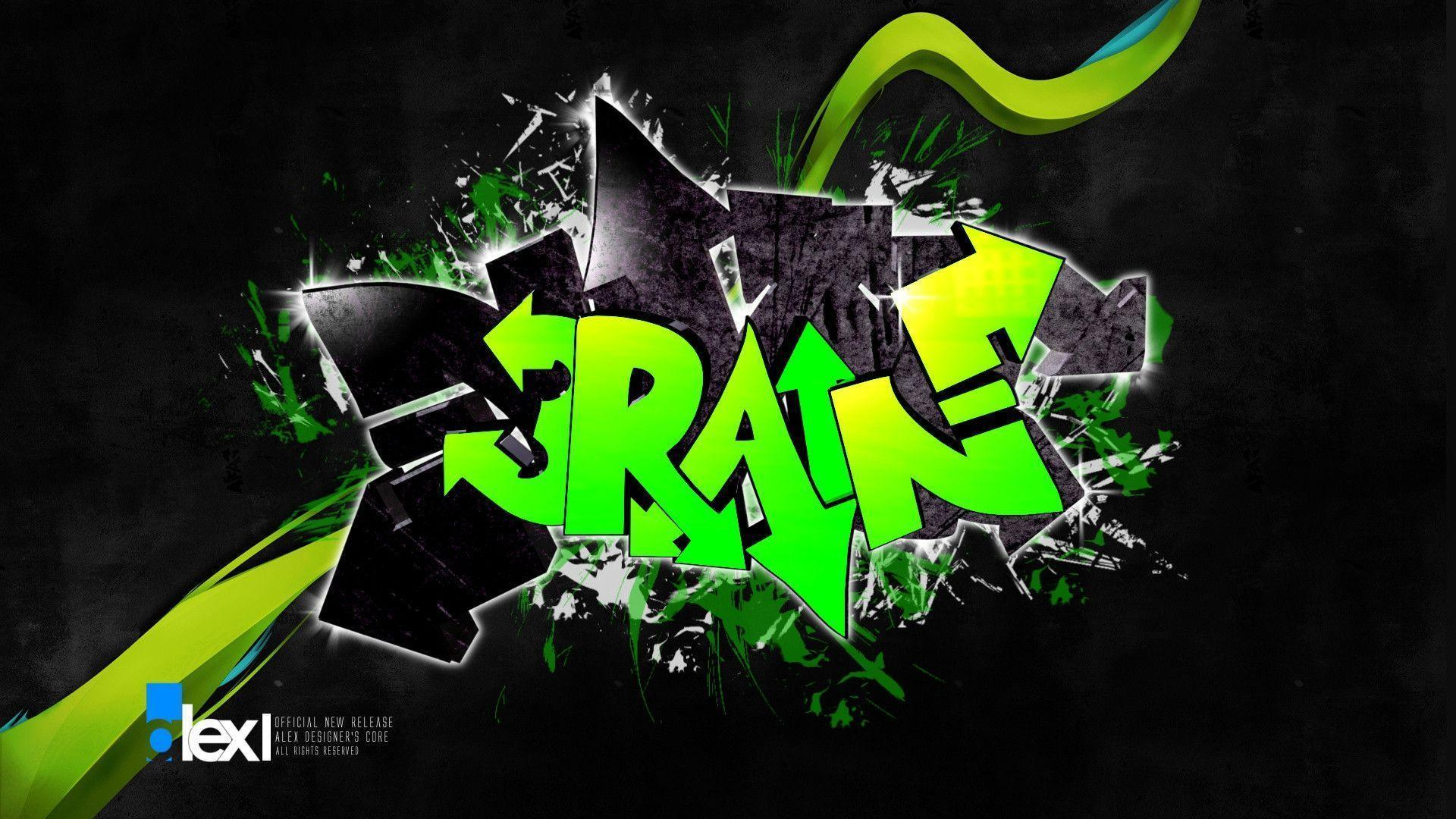 Cool Graffiti Backgrounds 3d
