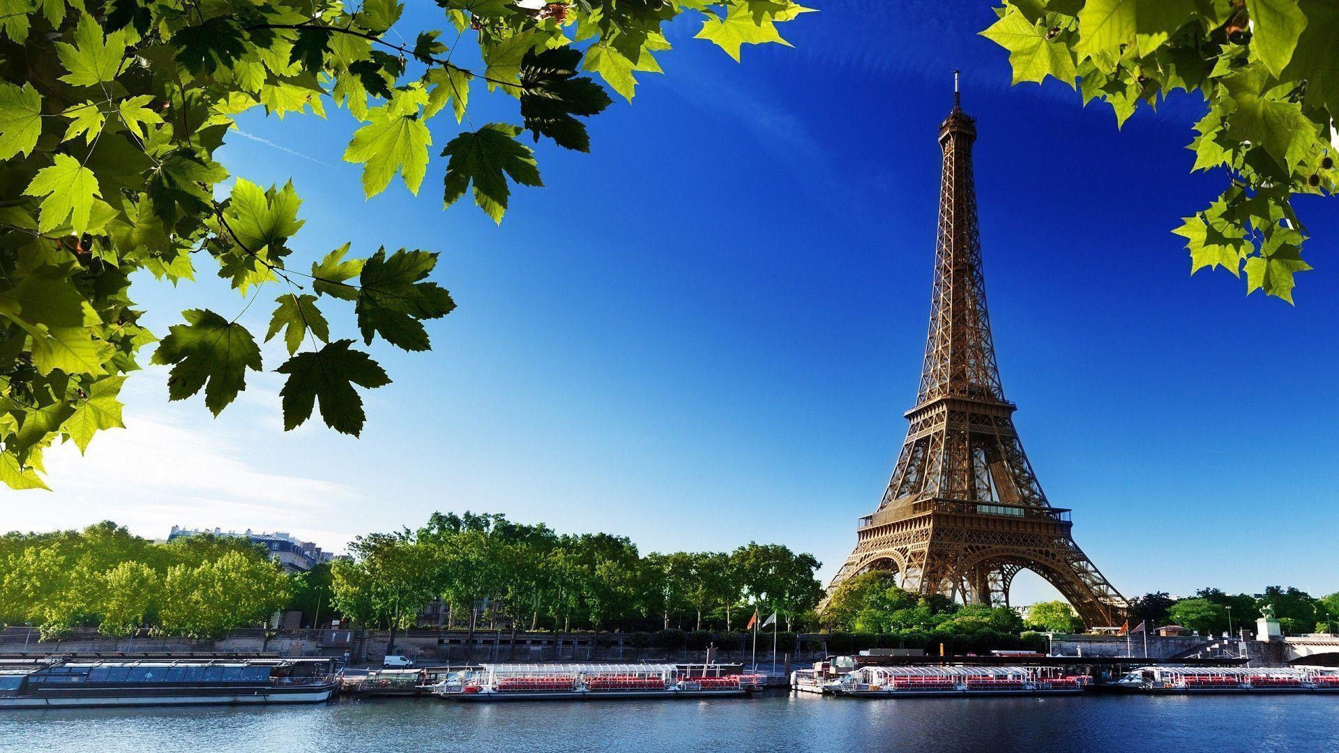 1920x1080 Eiffel Tower Summer Wallpaper