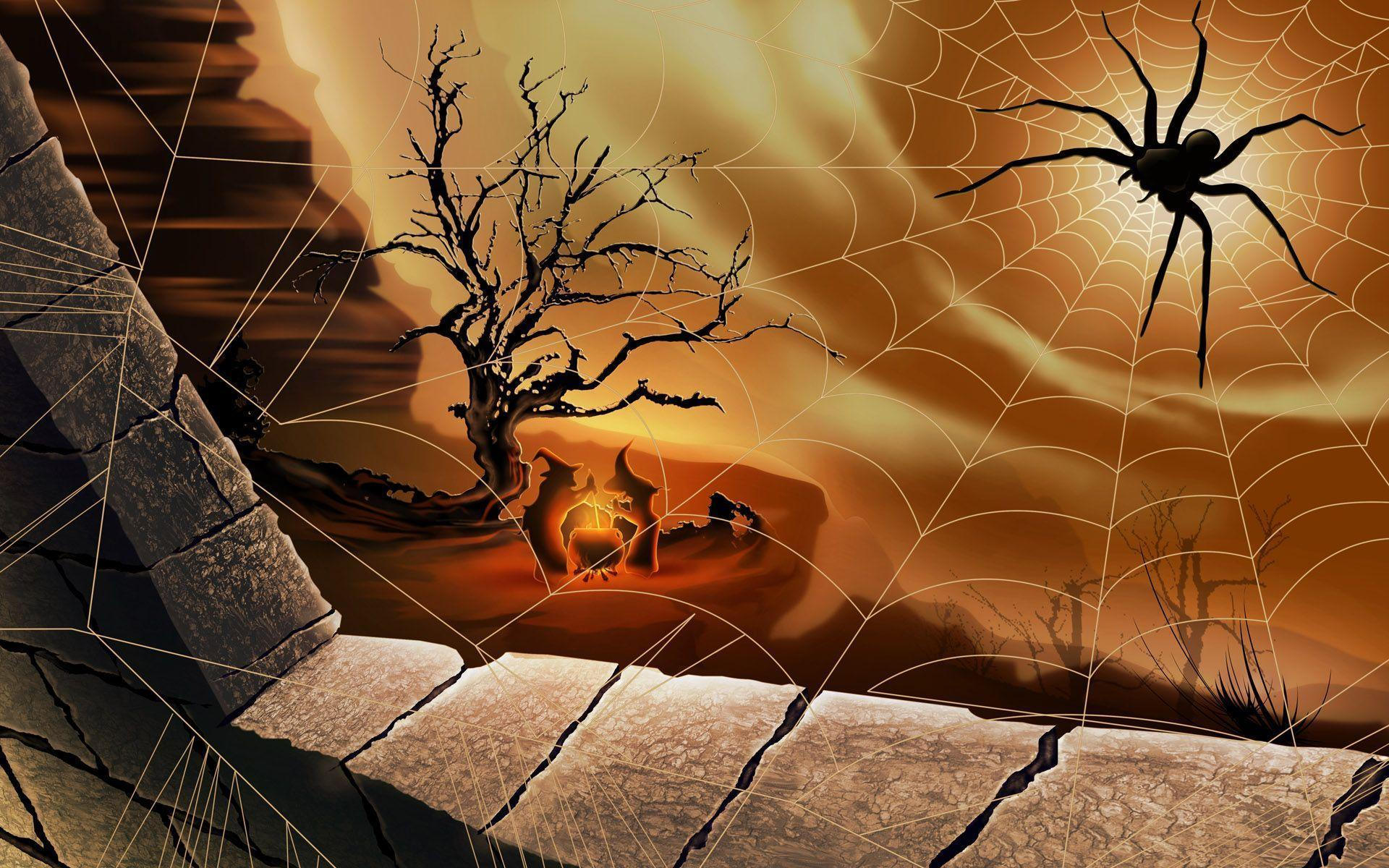 Halloween Spider Net | Smash Wallpapers - Free source for top ...