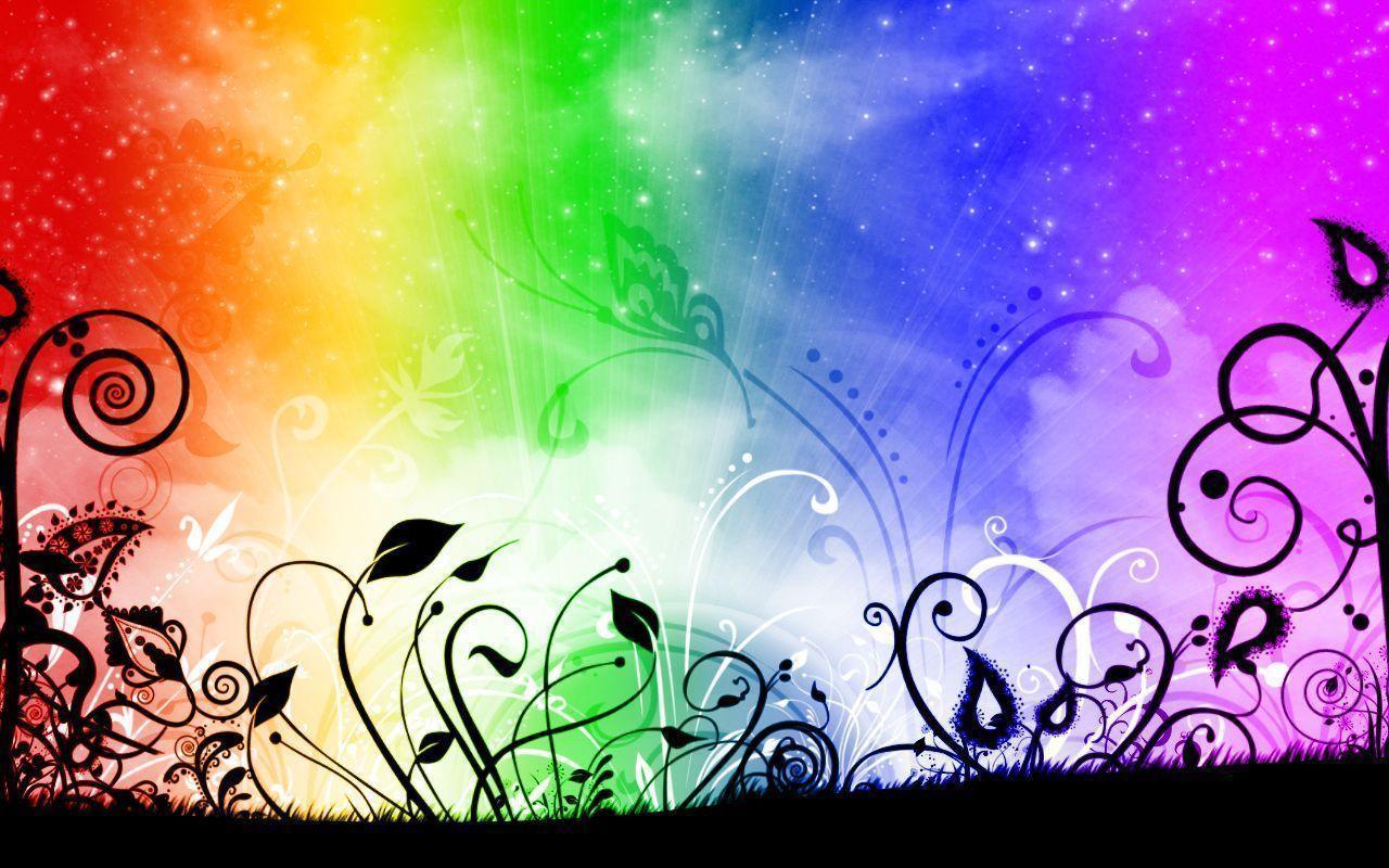 rainbow flower background - photo #10
