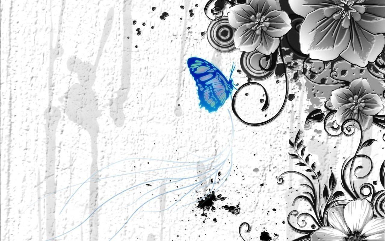butterfly blue abstract wallpaper - photo #7