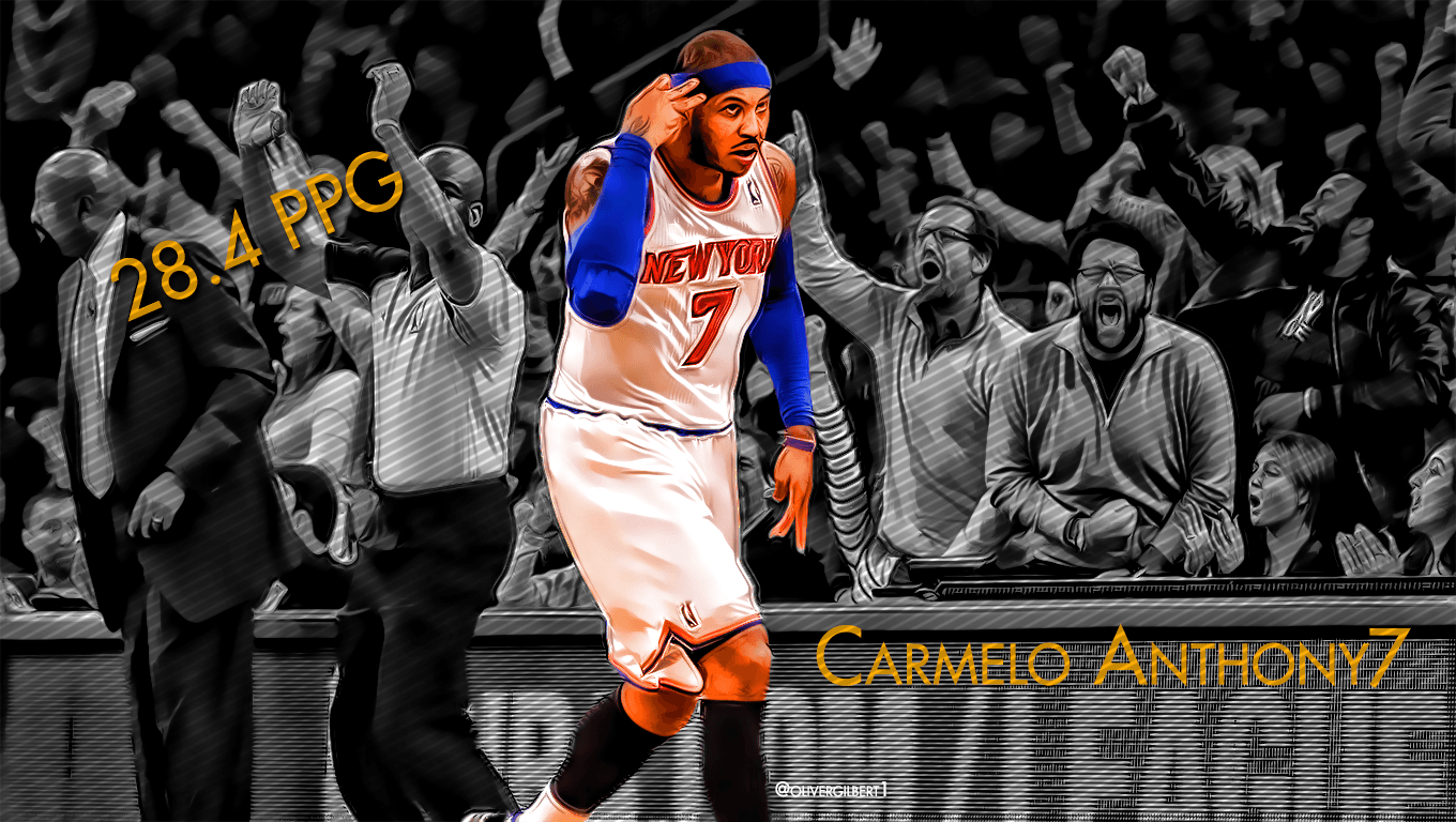 carmelo anthony knicks wallpapers wallpaper cave