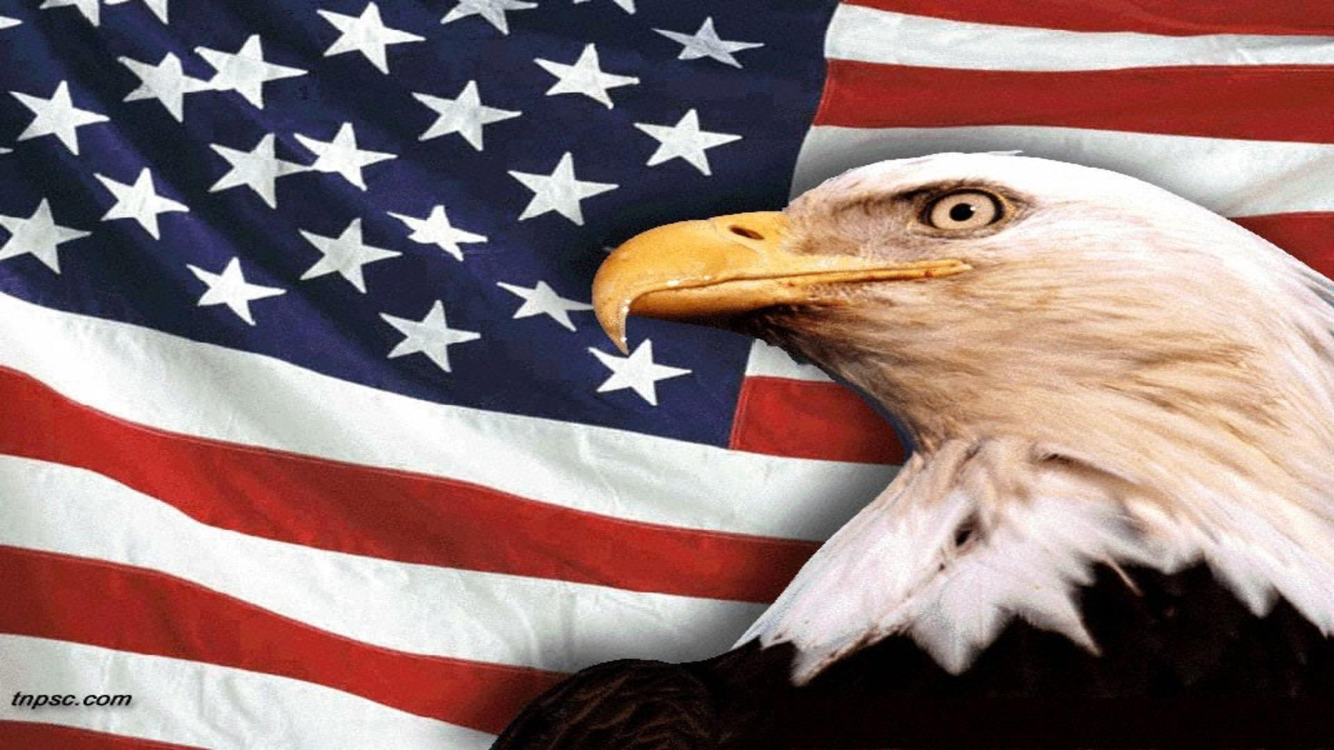 Patriotic Wallpaper Usa Flag Eagle: Free Flag Backgrounds
