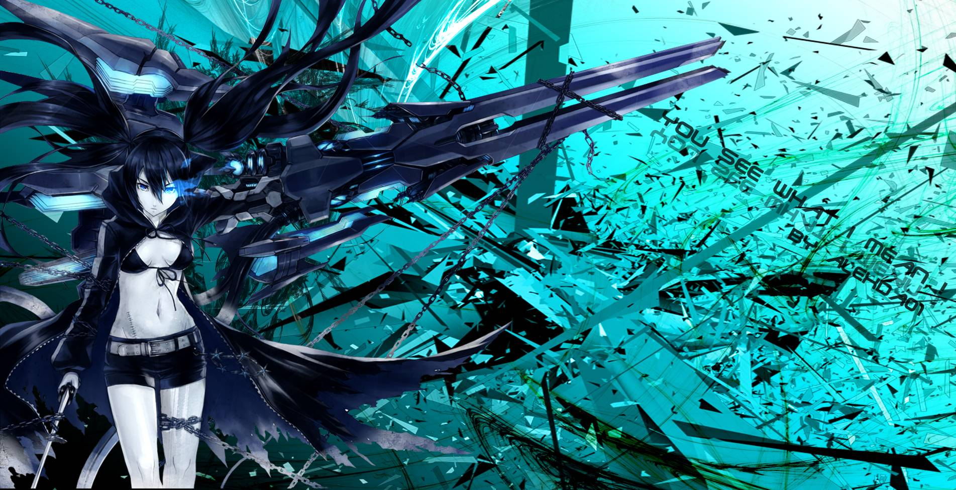 black rock shooter wallpapers - wallpaper cave