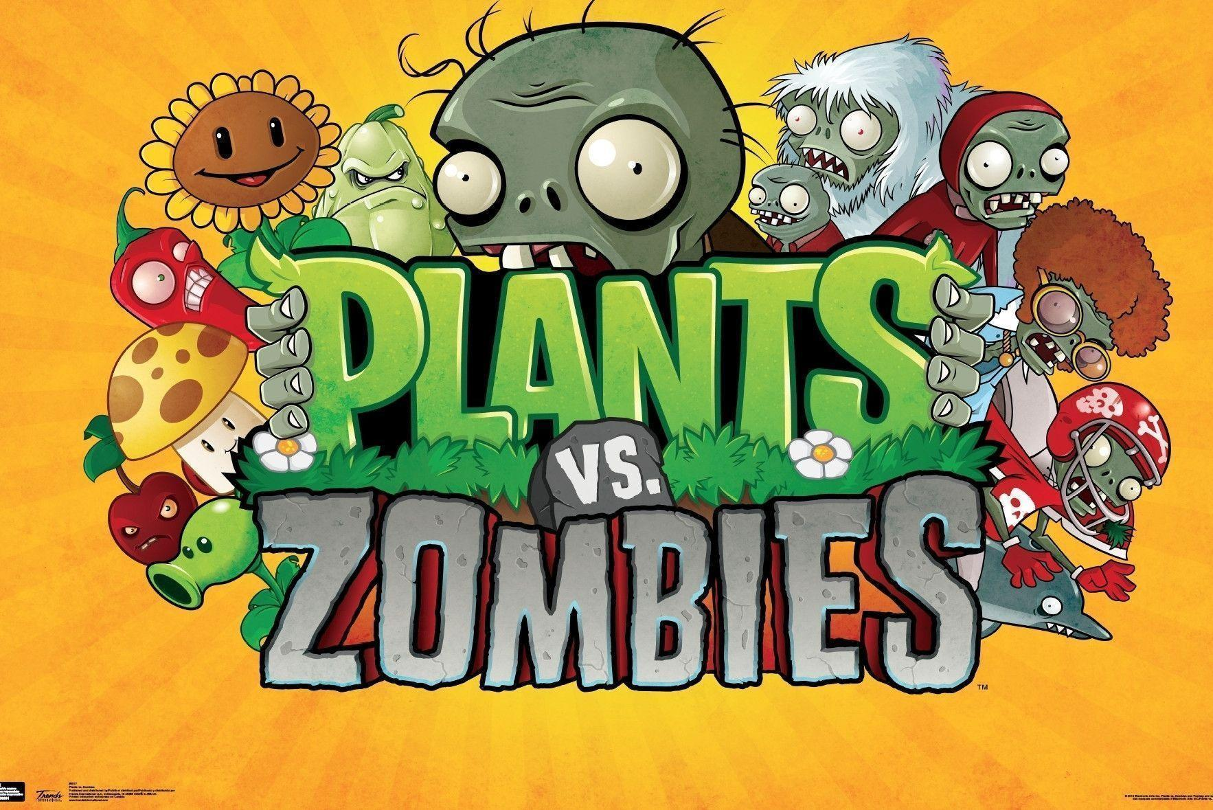 Plants vs zombies wallpapers wallpaper cave for Plante vs zombie