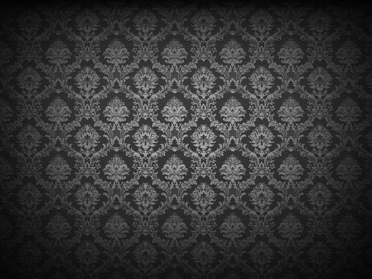 Damask desktop wallpapers wallpaper cave for Black and grey wallpaper designs