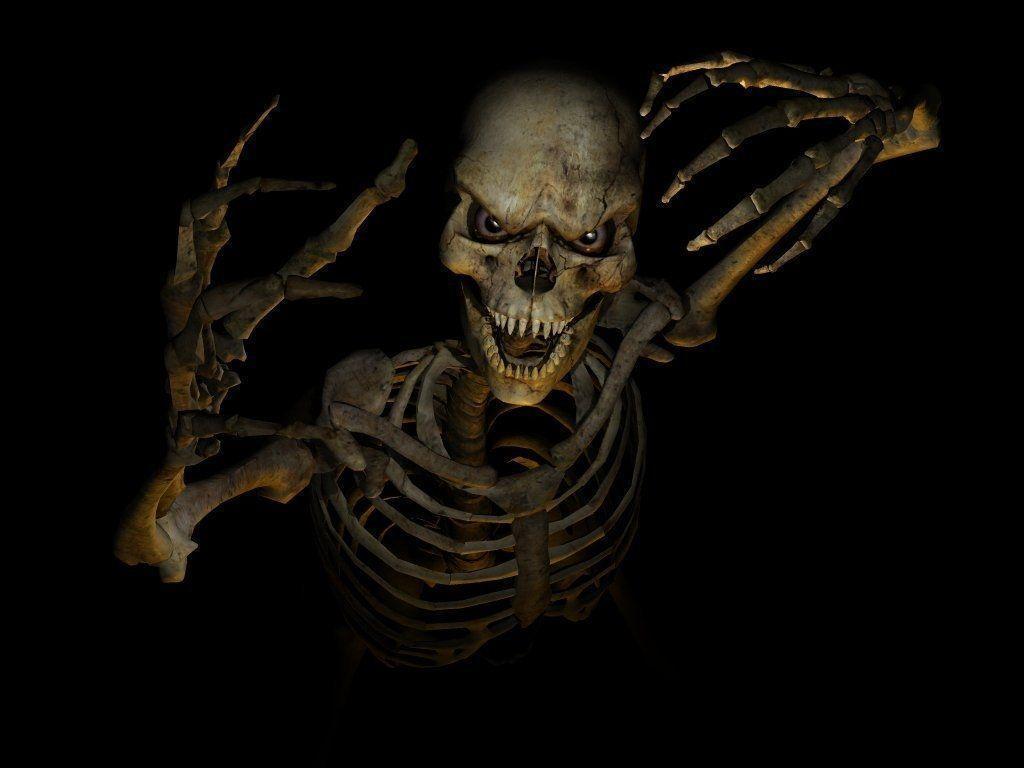 Halloween Skeleton Head Wallpapers