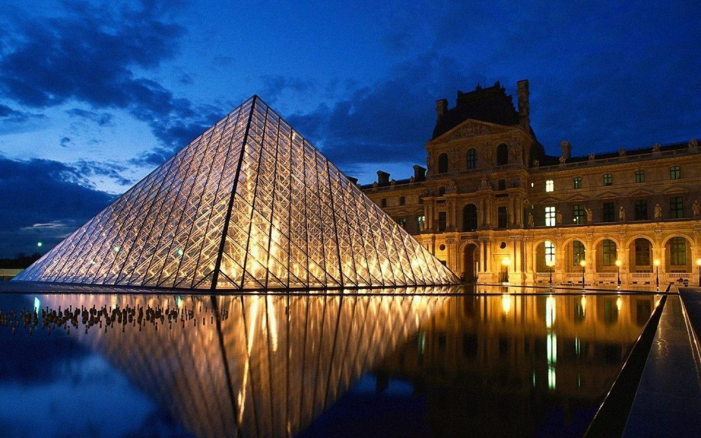 1440x900 Louvre Paris desktop PC and Mac wallpapers