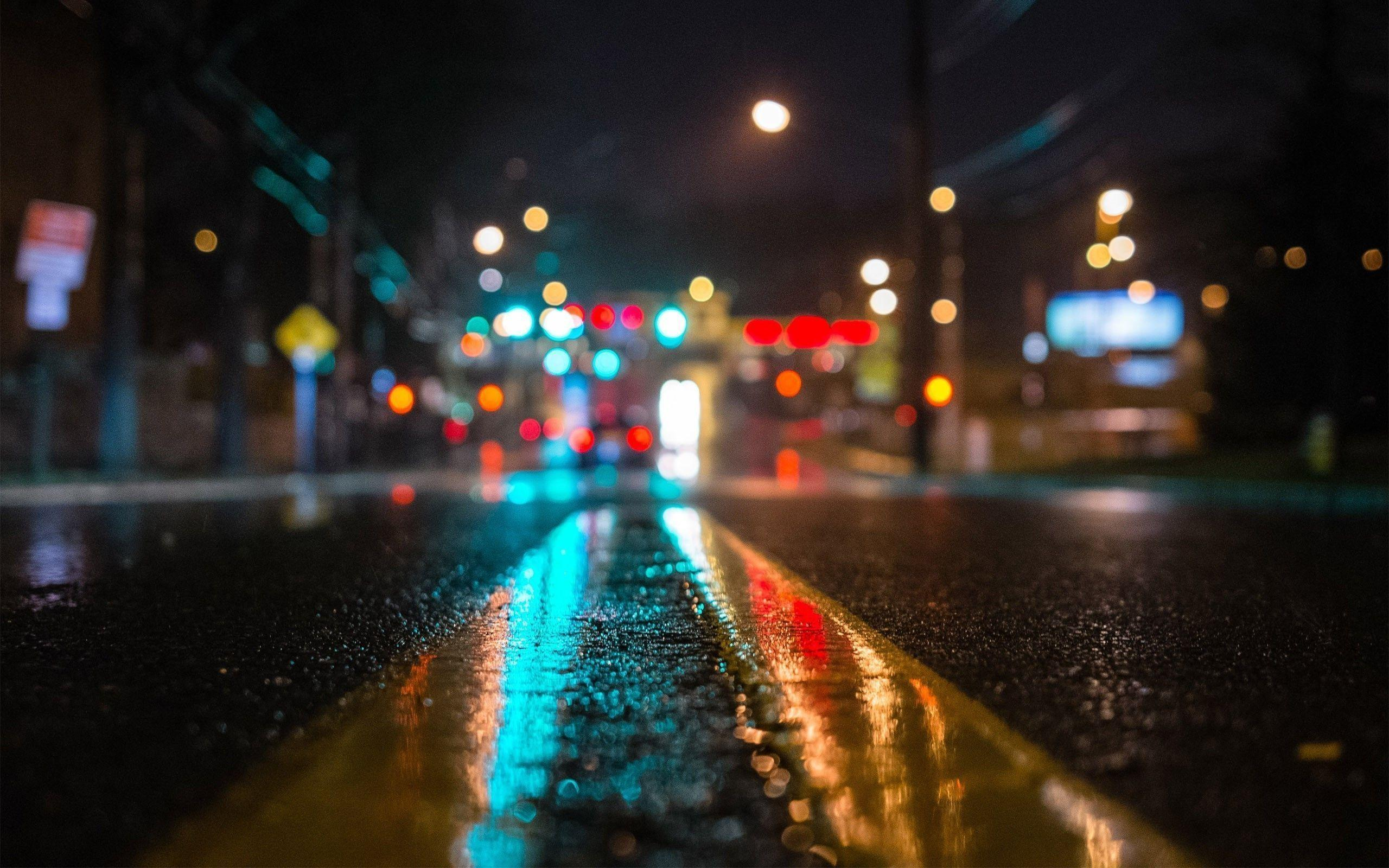 Road in the dark city Wallpapers #