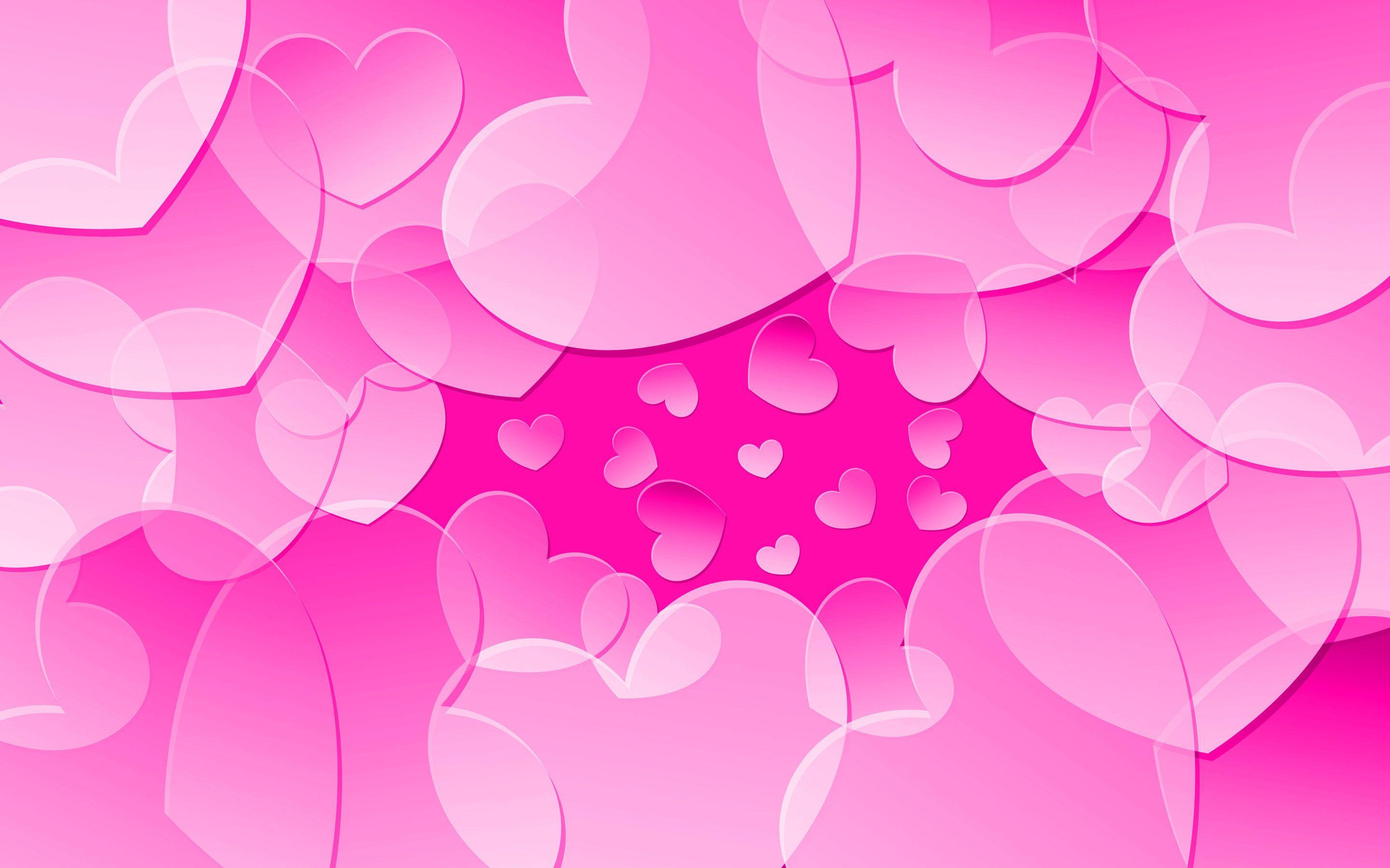 Heart pink wallpaper