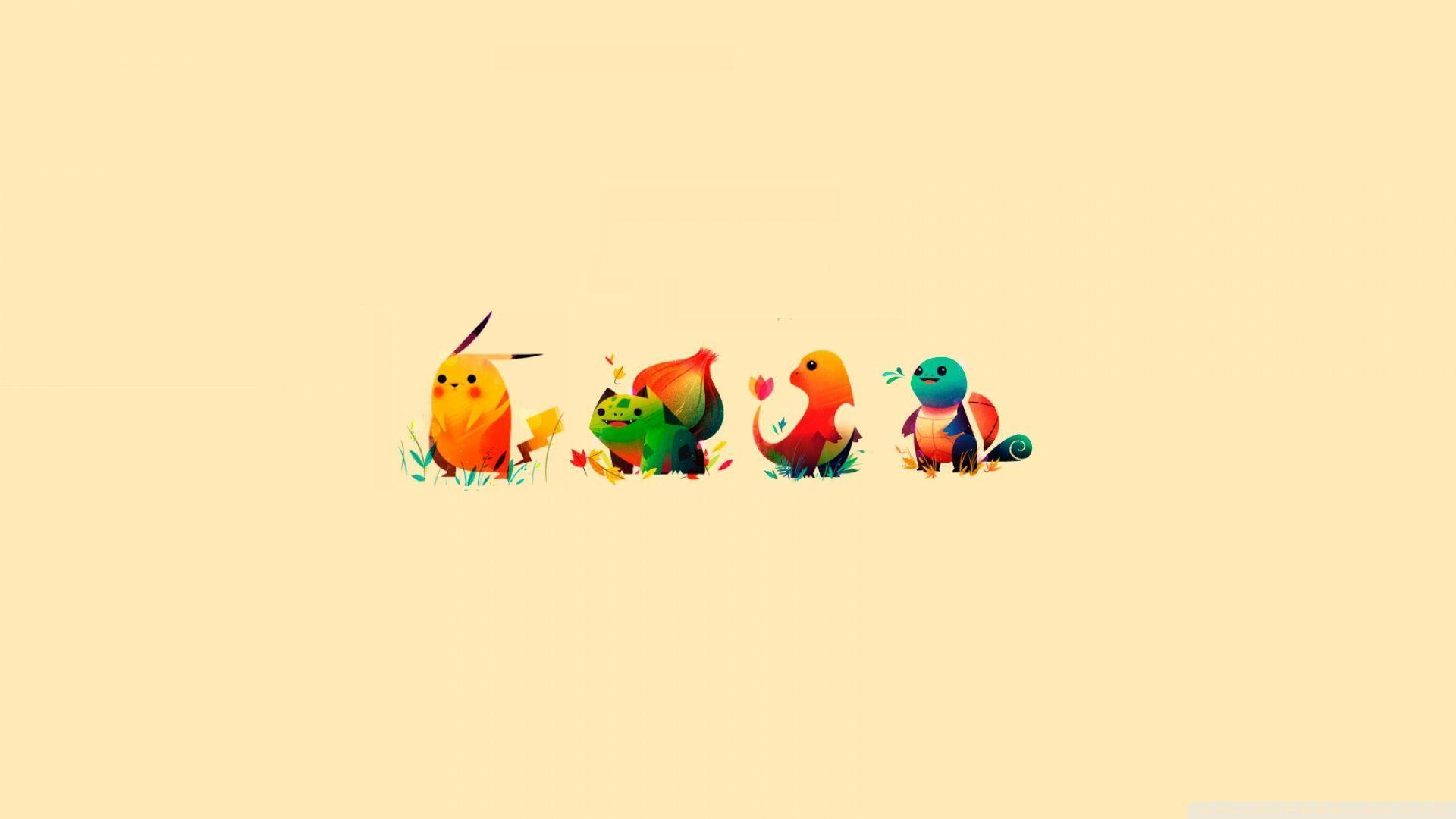 Download Pokemon Bulbasaur Pikachu Charmander Squirtle Wallpapers