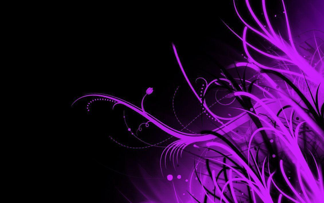 Black And Purple Abstract Widescreen Hd Wallpaper 512: Awesome Purple Backgrounds