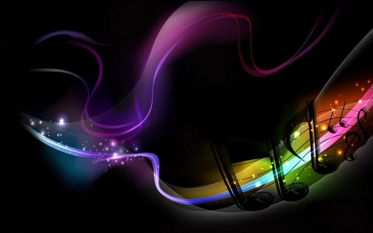Rainbow Music Notes Background Hd Wallpaper Background Images: Music Wallpapers Abstract
